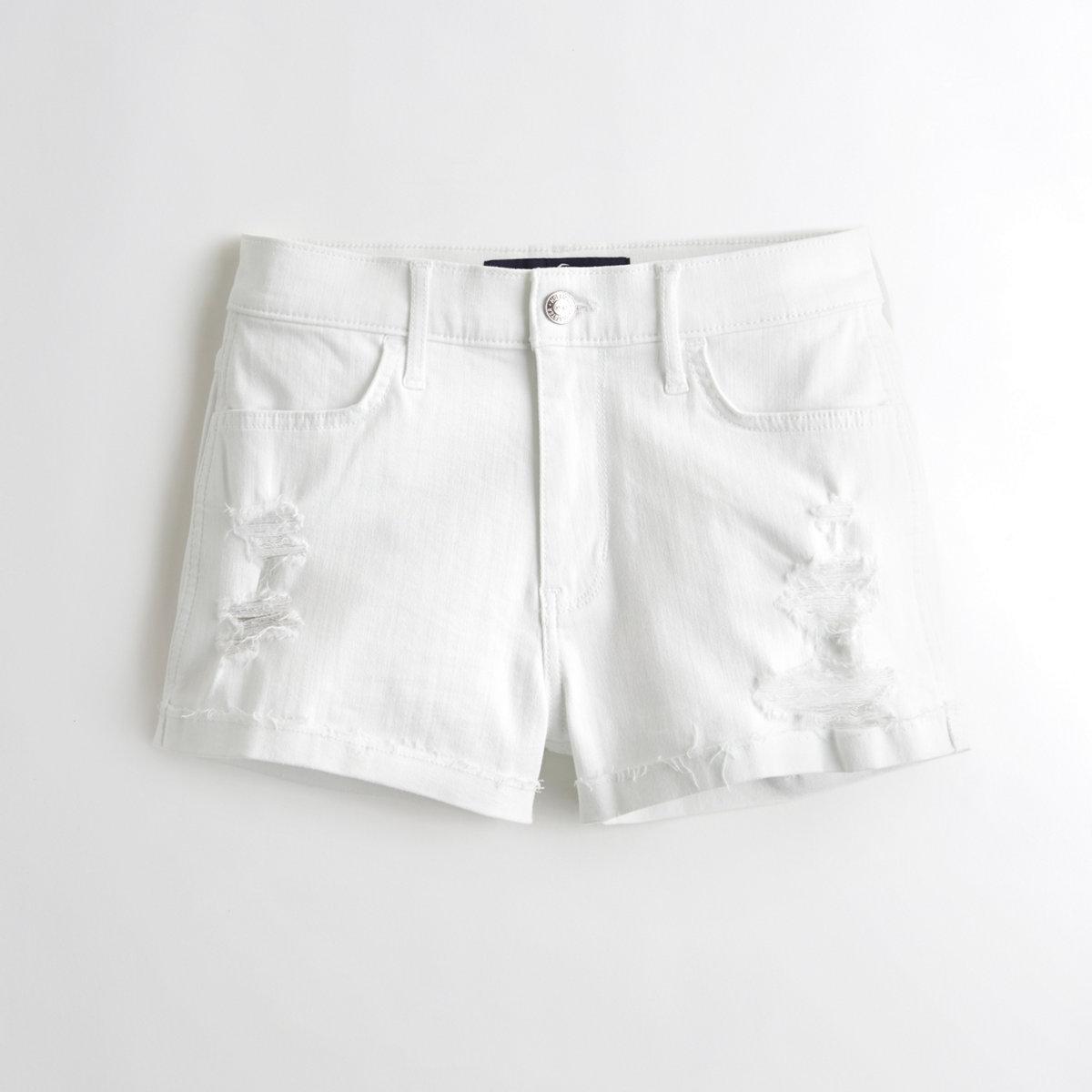High-Rise Denim Short-Shorts