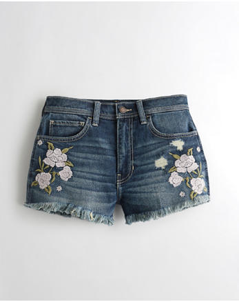 hol Vintage Stretch High-Rise Denim Vintage Shorts