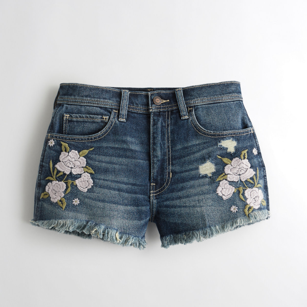 Vintage Stretch High-Rise Denim Vintage Shorts