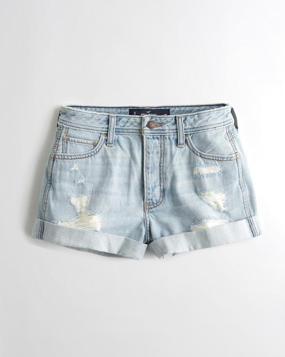 hol High-Rise Denim Boyfriend Shorts