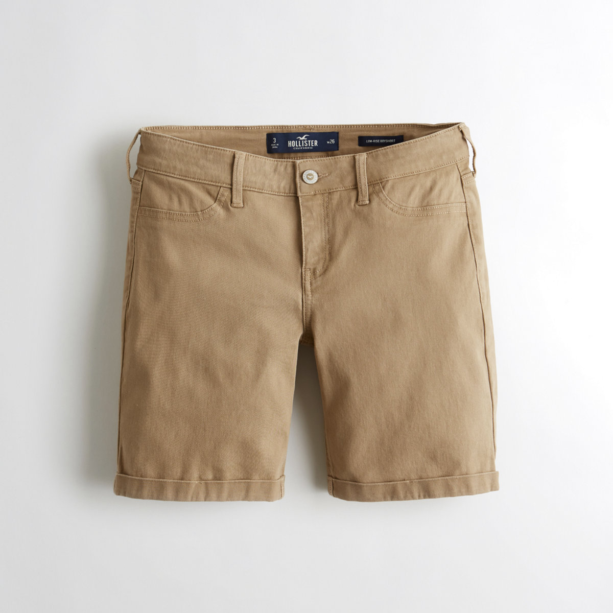 Stretch Low-Rise Twill Boyshorts