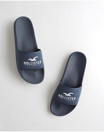 Men Hollister Sandals Black Up To 60% Off