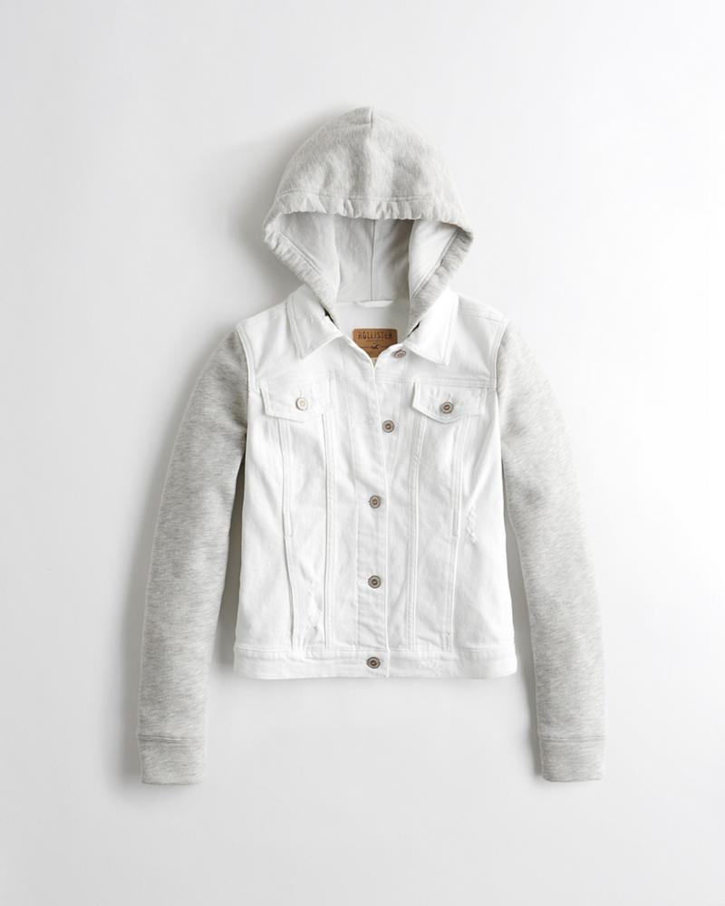 56afdd0e9fbb Hooded Denim Jacket