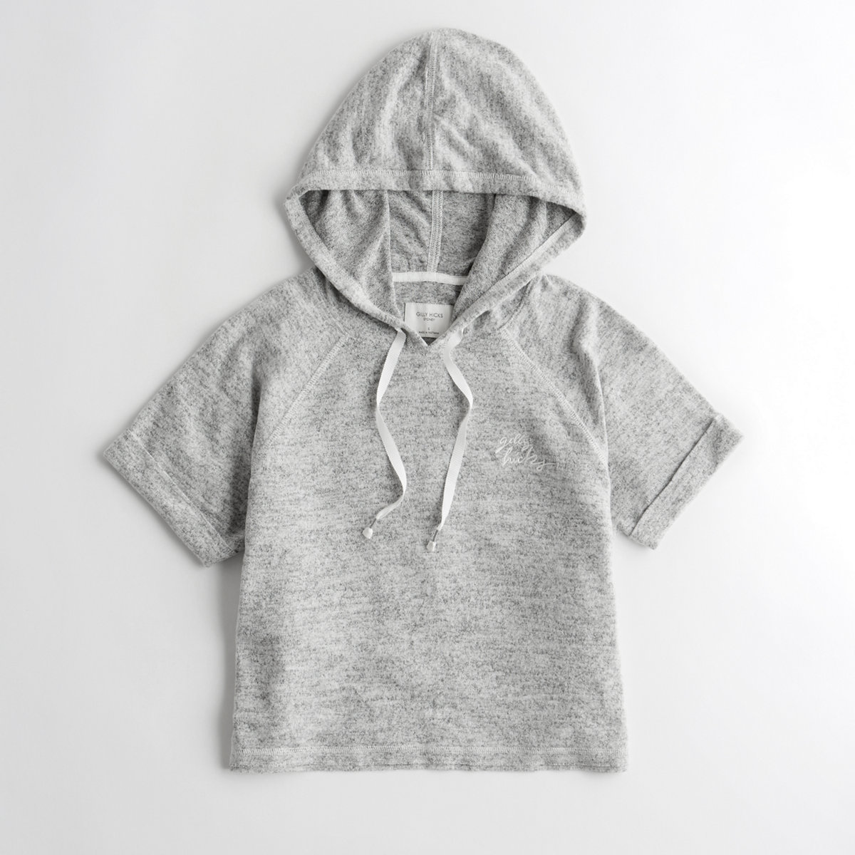 Short-Sleeve Crop Hooded T-Shirt