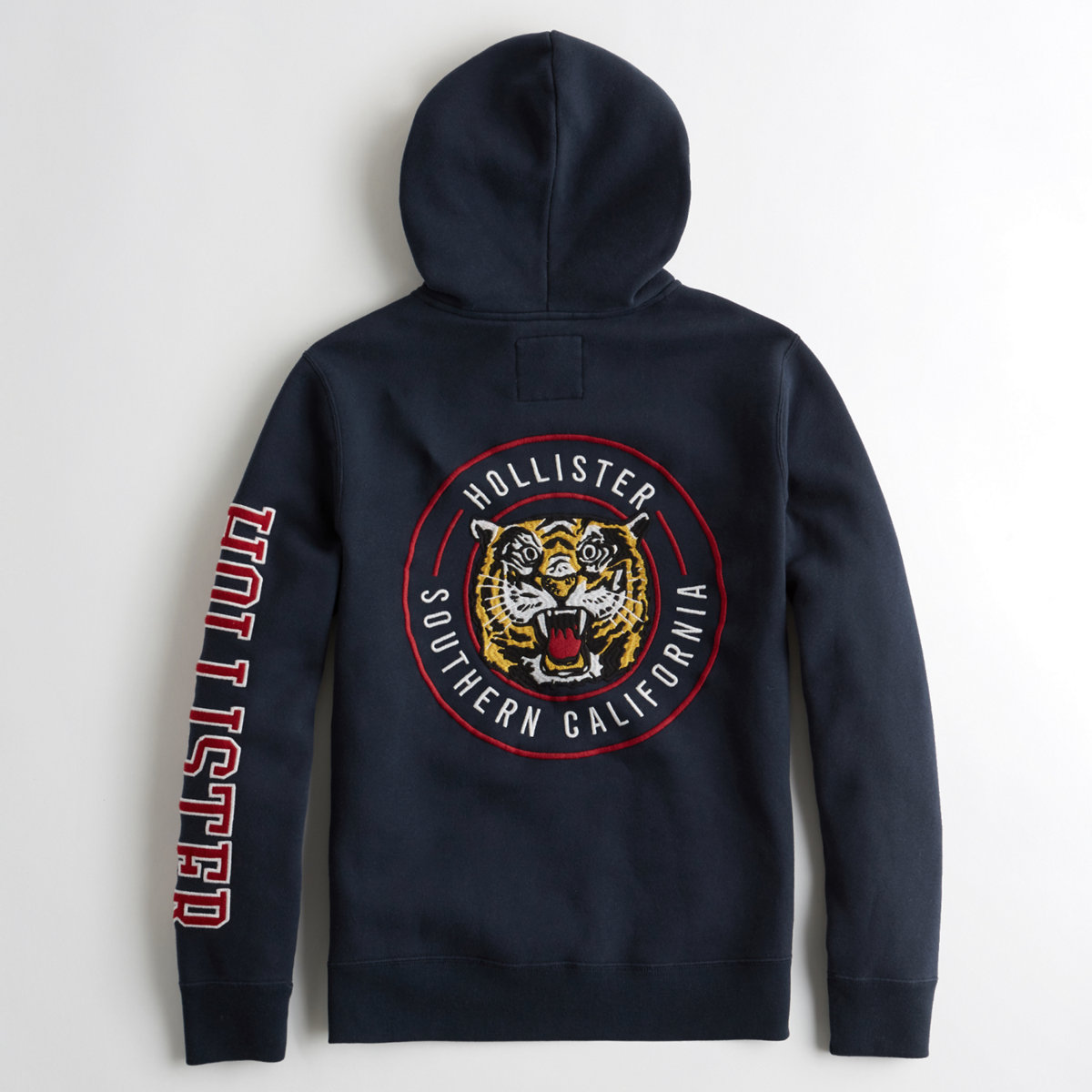 Embroidered Tiger Graphic Hoodie