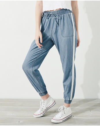 hol High-Rise Chambray Joggers