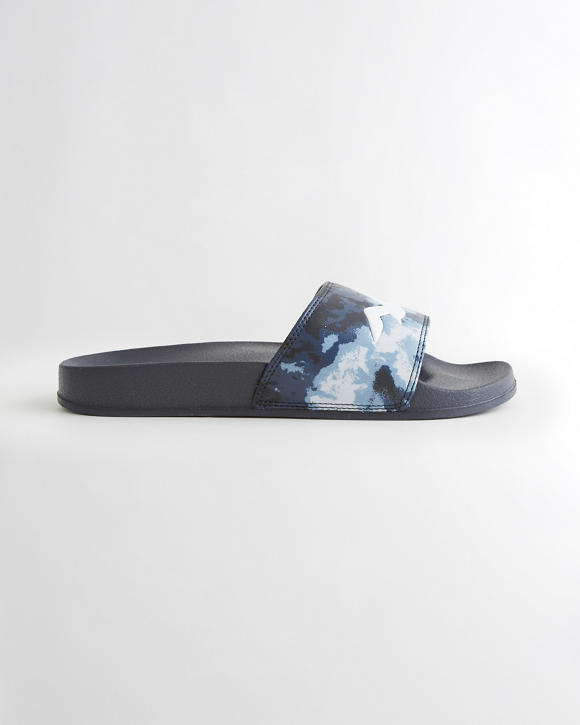 Tie Dye Logo Slide Sandals by Hollister