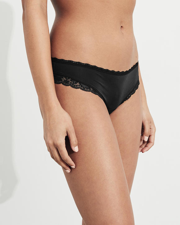 Lace Trim Microfiber Original Cheeky by Hollister