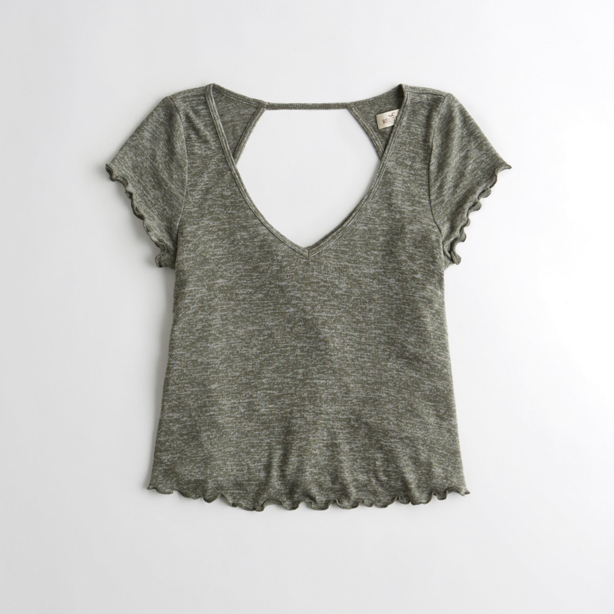 Open Back Crop Easy T-Shirt