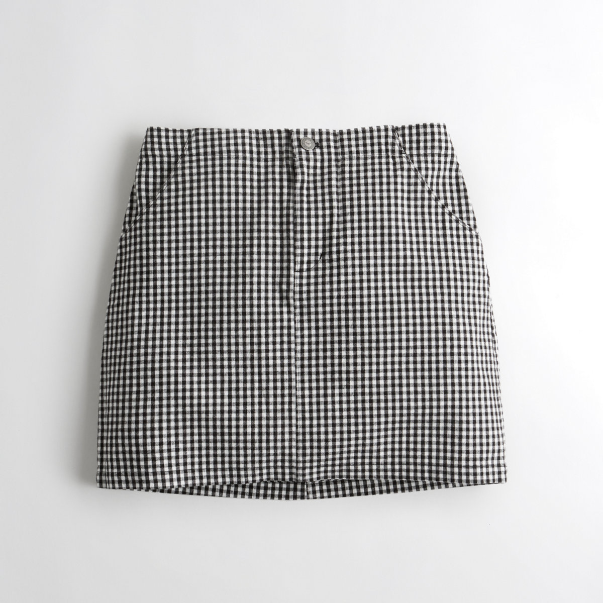 Stretch Oxford A-Line Skirt