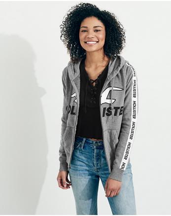 hol Americana Crop Crewneck Sweatshirt