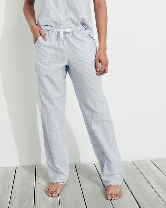 Eyelet Woven Sleep Pants by Hollister