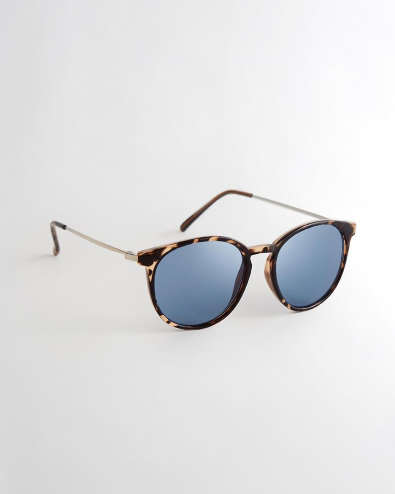 Guys Gafas de sol redondas de carey | Guys Accessories | HollisterCo.com