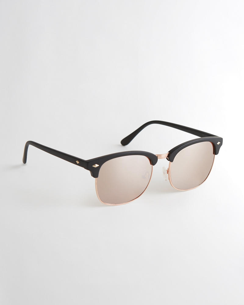 4bb5fcdf97 Guys Half-Frame Square Sunglasses