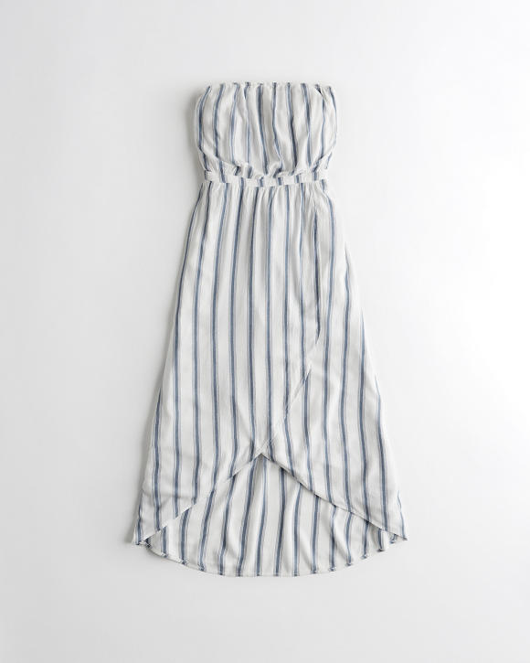 Strapless High Low Wrap Maxi Dress by Hollister