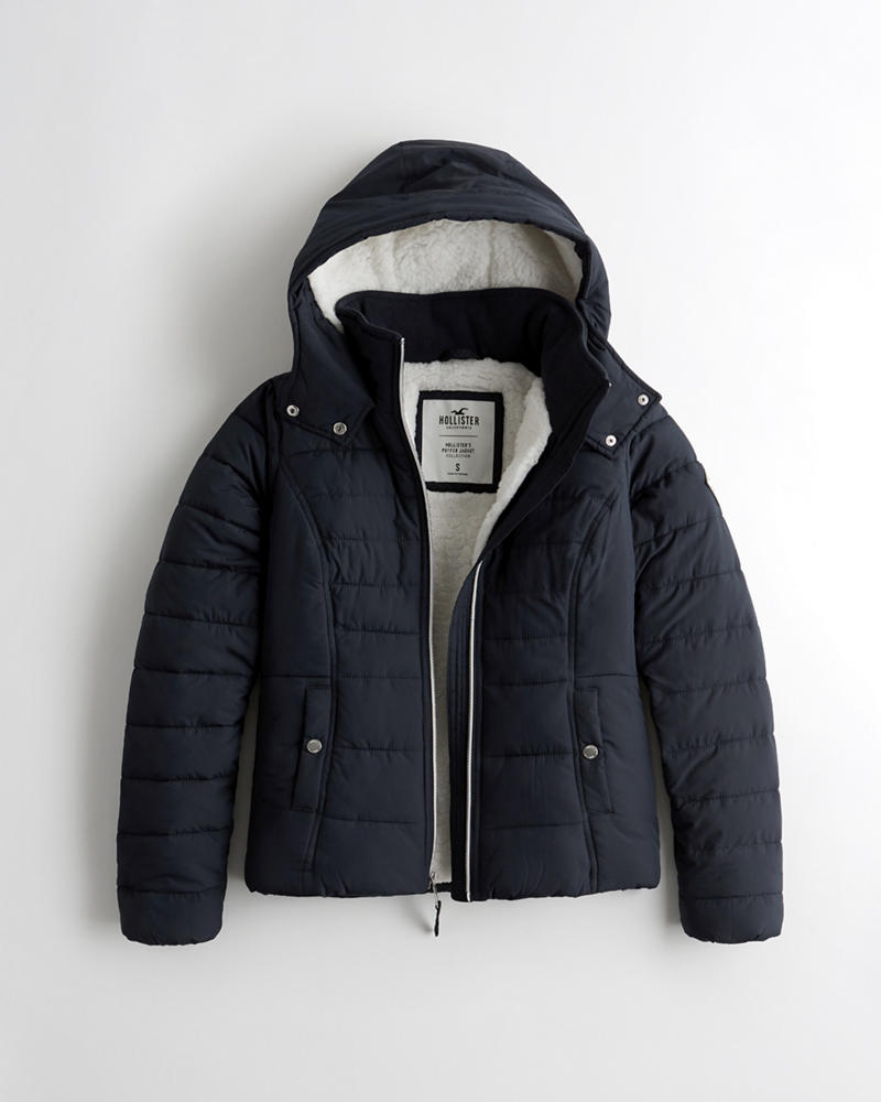 Coats, Jackets & Vests Hollister Navy Parka Coat Refreshment