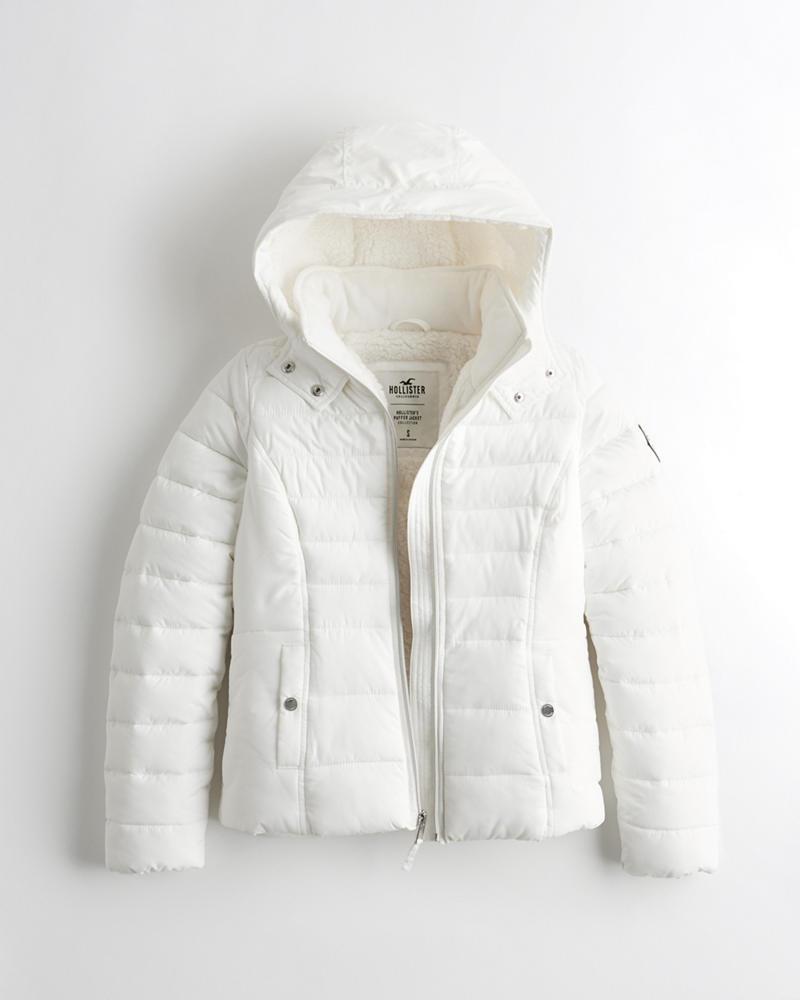 da03acafb59b Girls Sherpa-Lined Puffer Jacket