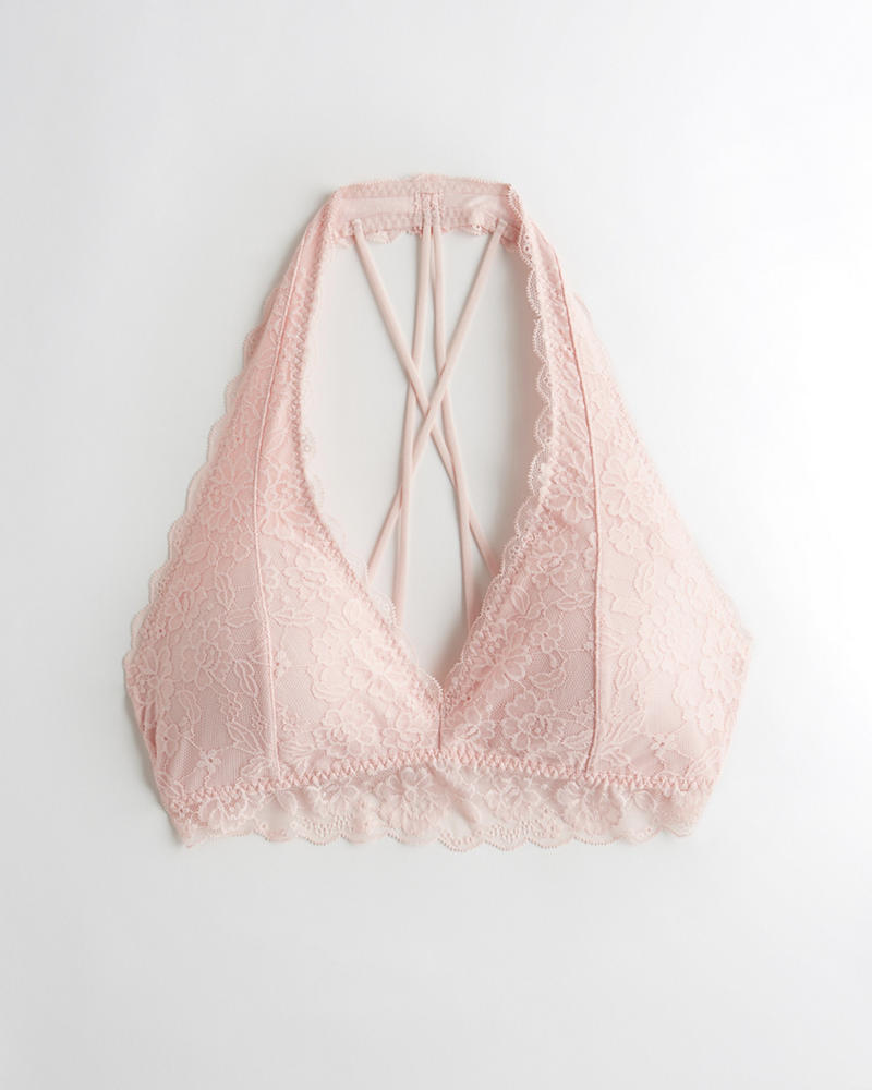 28eceeb582 Gilly Hicks Strappy Halter Bralette With Removable Pads