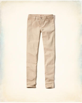 Low-Rise Super Skinny Jeans, LIGHT KHAKI e193f64442a