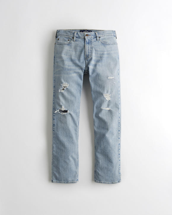 Hollister Epic Flex Classic Straight Jeans | Tuggl