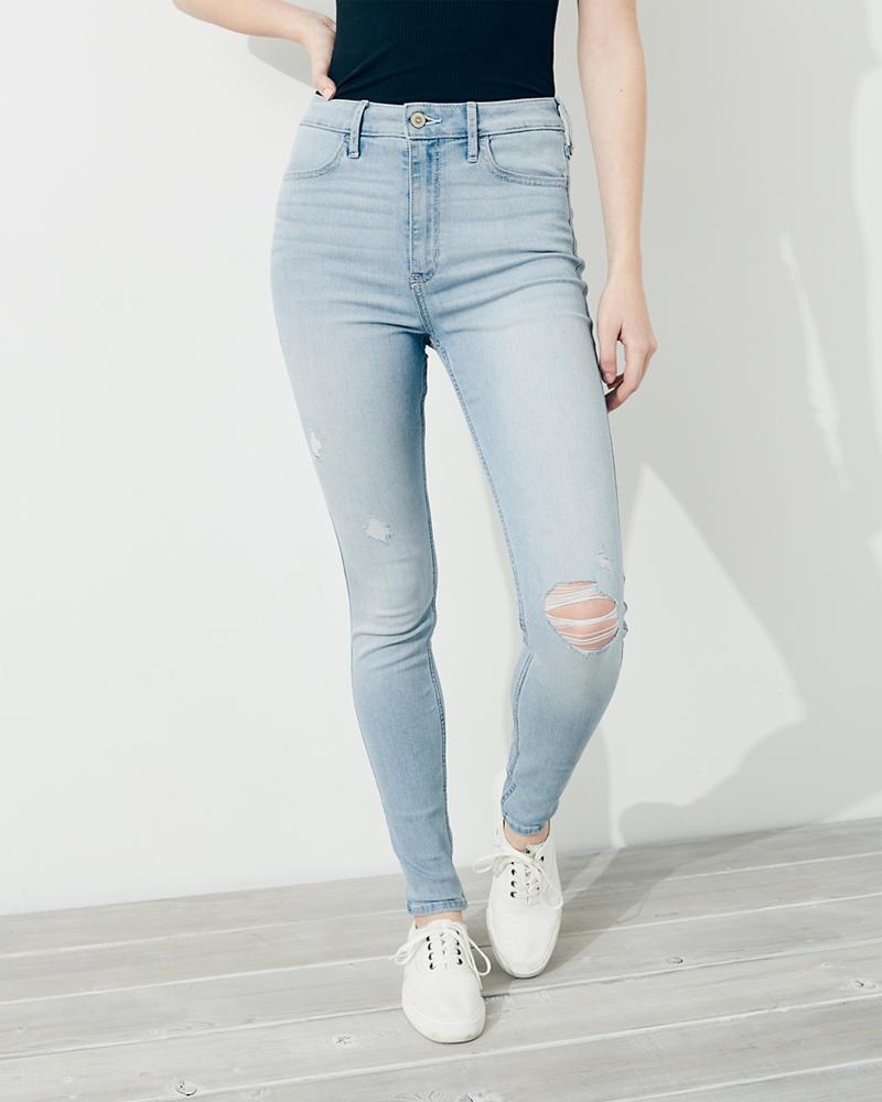 30530298ebe Girls Stretch Ultra High-Rise Super Skinny Jeans