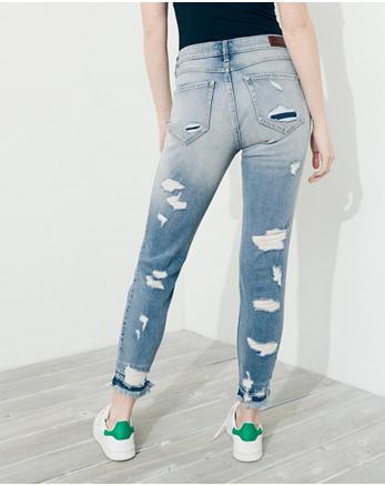 hol Vintage Stretch High-Rise Crop Super Skinny Jeans