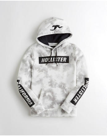 buy popular 48538 8f823 Hollister sweatshirt  Lyst - Hollister Rose Embroidered Graphic Hoodie in  White for Men  Tie-Dye Logo Graphic Hoodie, WHITE TIE-DYE ...