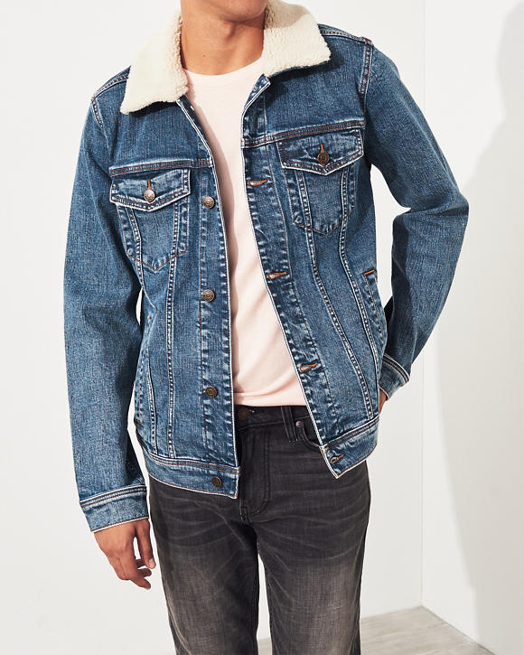 Stretch Denim Trucker Jacket by Hollister