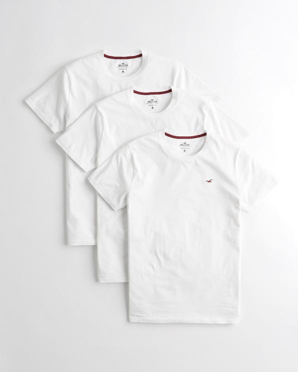 Guys Must-Have Crewneck T-Shirt 3-Pack   Guys   HollisterCo com