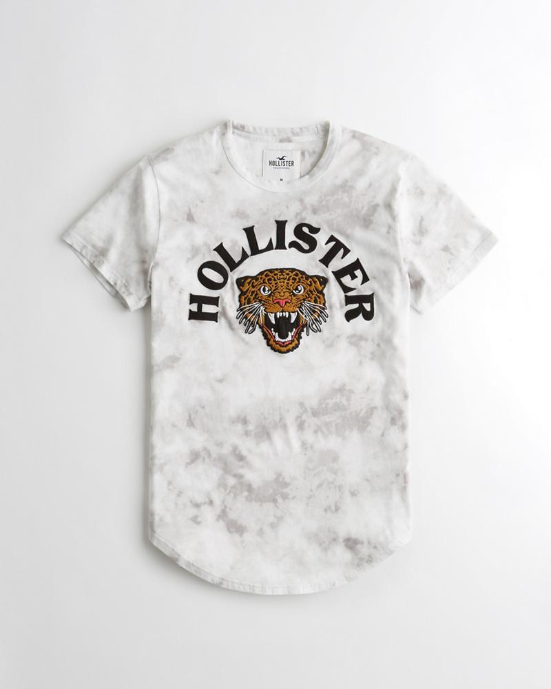 Logo Con Y Chicos Camiseta De Efecto Teñido Leopardo Estampa AHqqIwt5