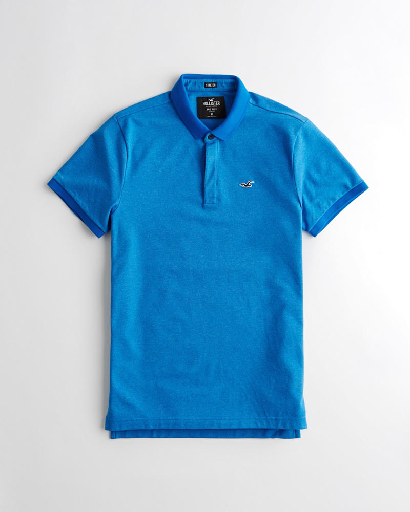 Guys Stretch Shrunken Collar Polo  e77c118090f10