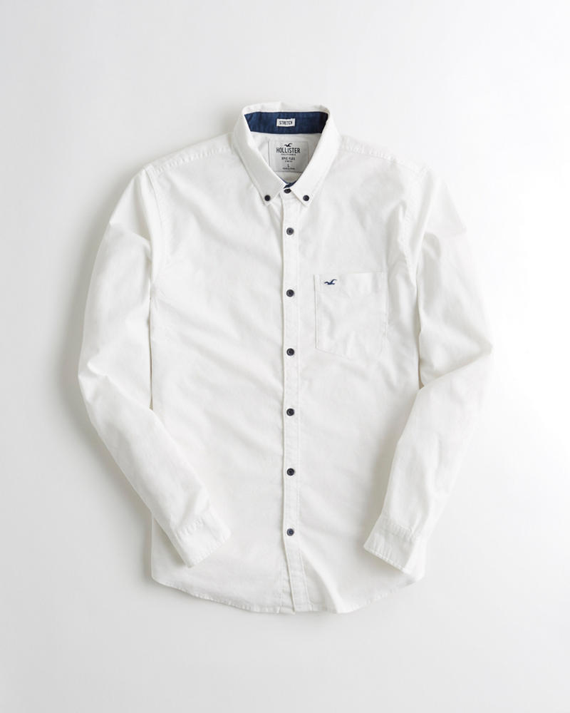 Guys Stretch Oxford Shirt Guys Online Exclusives Hollisterco