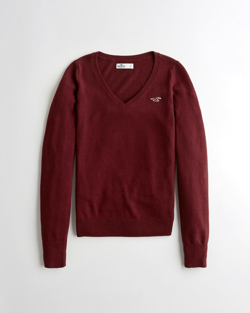 Girls V-Neck Sweater | Girls Clearance | HollisterCo.com