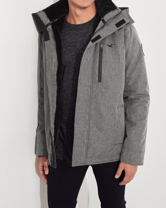 Faux Fur Lined Jacket by Hollister