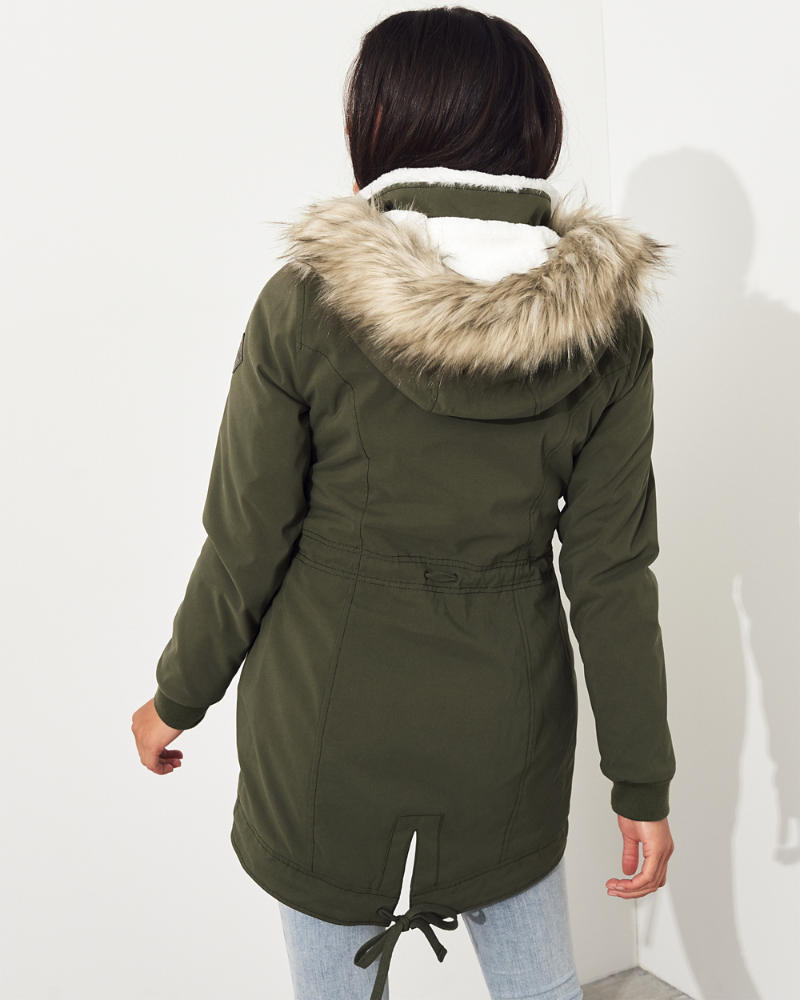 3556c1491 Stretch Cozy-Lined Parka