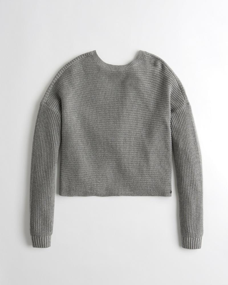 girls twist back sweater girls tops hollisterco com