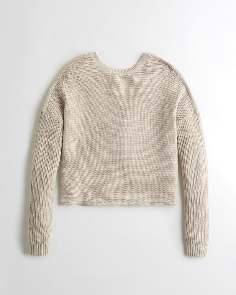 Girls Twist-Back Sweater   Girls Tops   HollisterCo.com