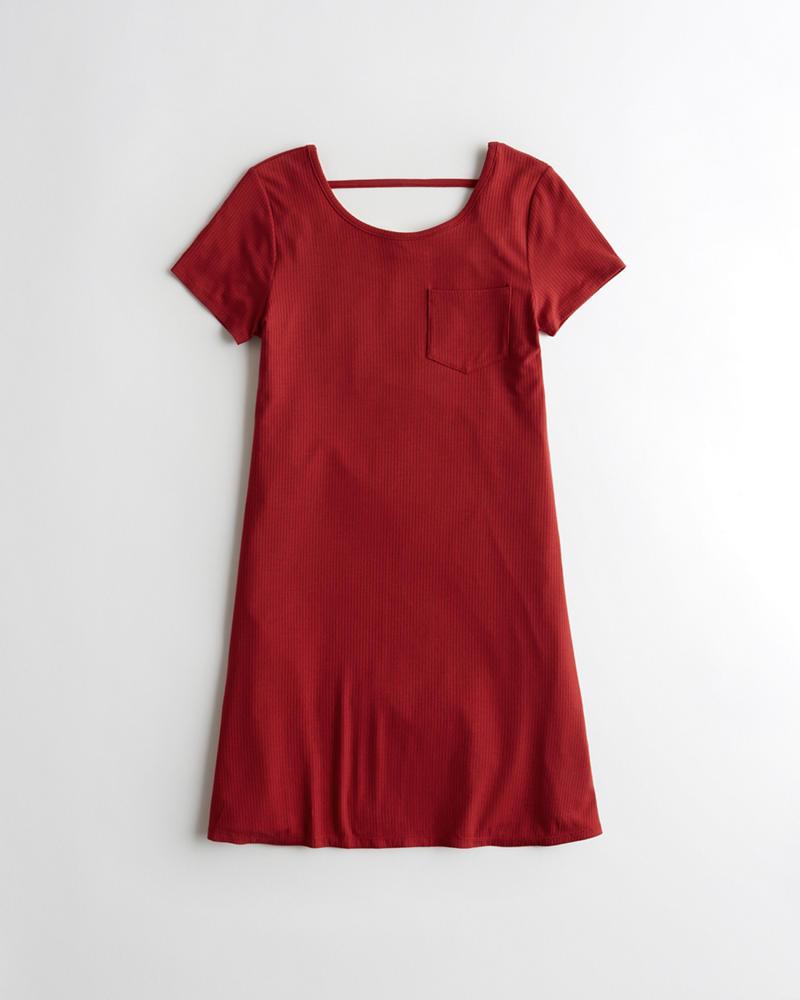 Girls Open Back T Shirt Dress Girls Clearance Hollisterco
