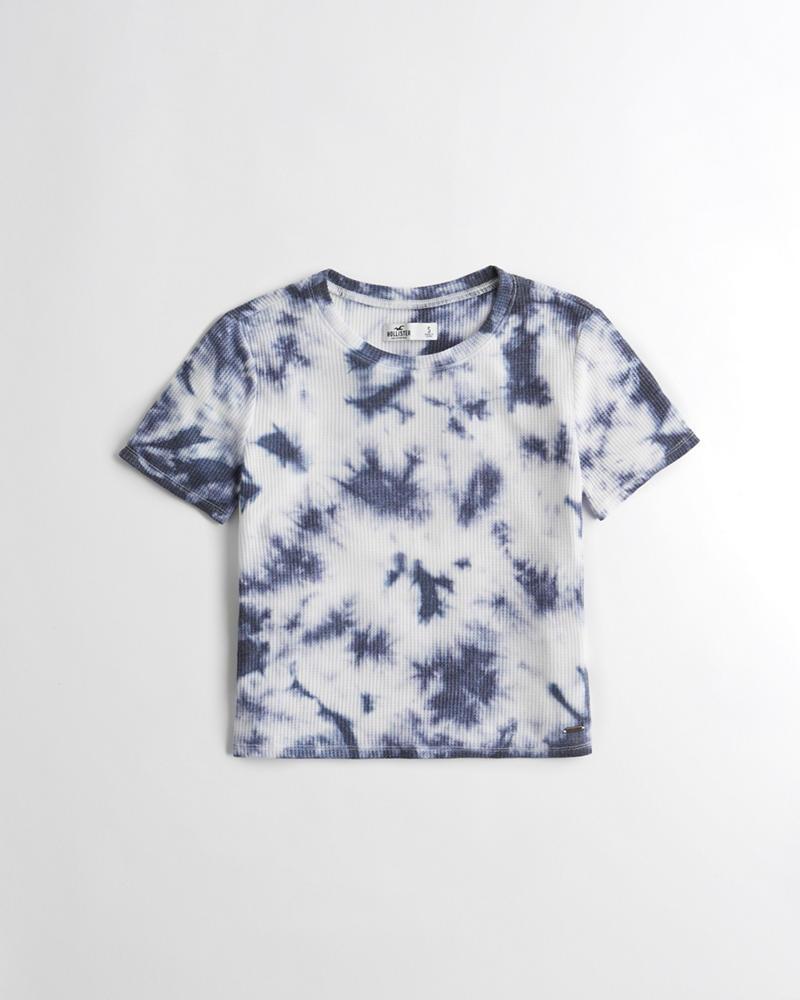 672e9798e98 Girls Tie-Dye Waffle Crop T-Shirt