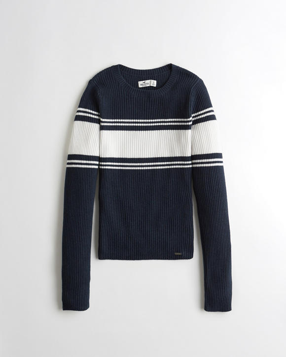 Ribbed Crewneck Sweater | Tuggl