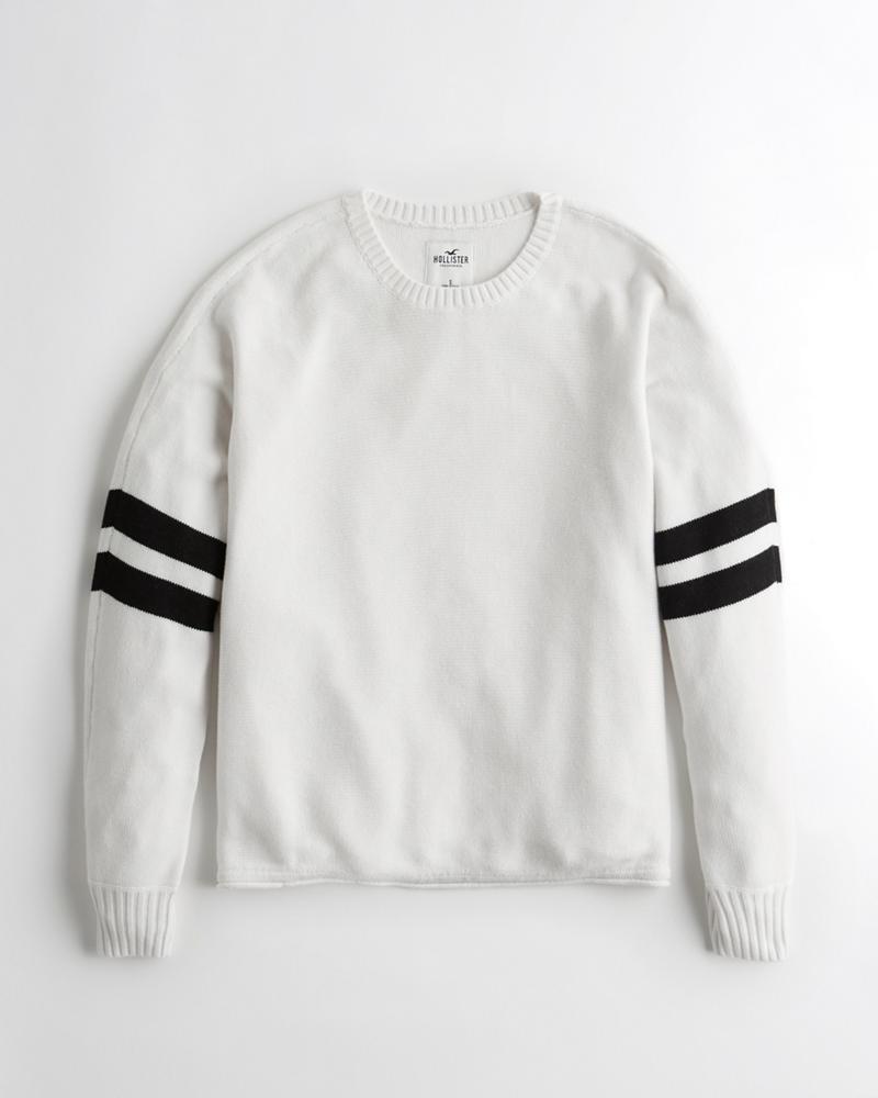 Girls Stripe Oversized Sweater   Girls Tops   HollisterCo.ca