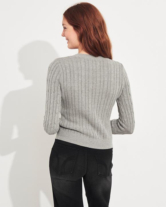 Girls - Suéter con cuello redondo y punto trenzado | Girls ...