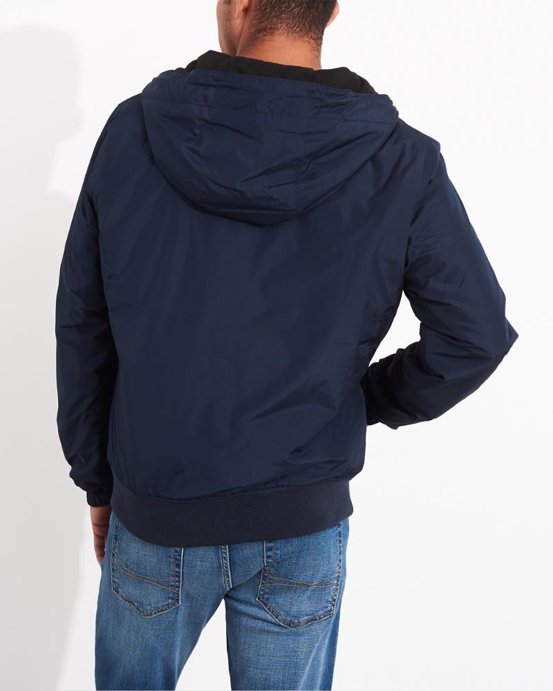 56f3e4979 Guys Fleece-Lined Hooded Bomber Jacket | Guys Clearance ...