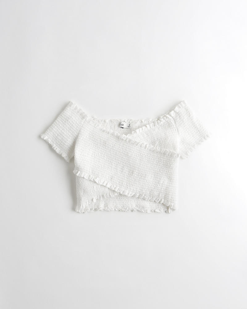 46e044ead146e8 Girls · Sale · Tops · T-Shirts   Tanks. Smocked Wrap Off-The-Shoulder ...