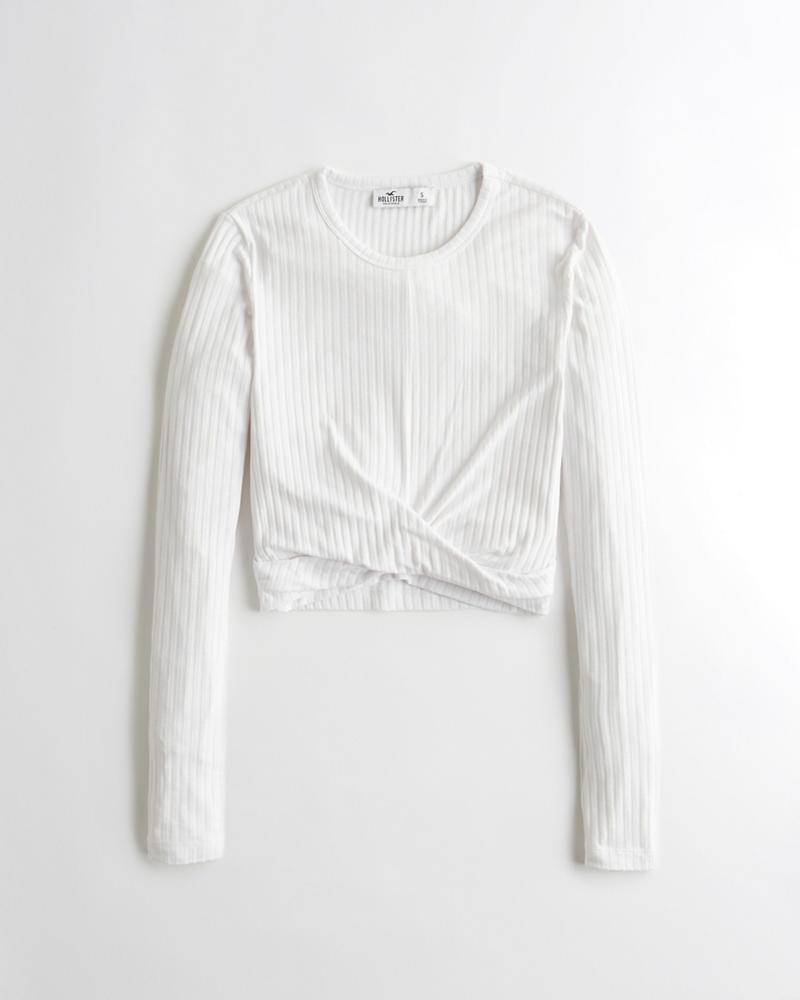 6d16326be5 Girls Knot-Front Crop T-Shirt