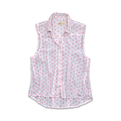 Girls Avalon Place Chiffon Shirt