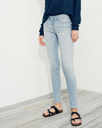Stretch Low-Rise Super Skinny Jeans