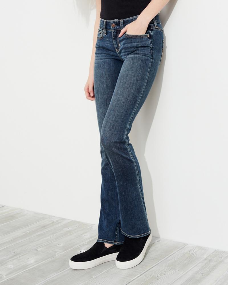Schwarze damen bootcut jeans