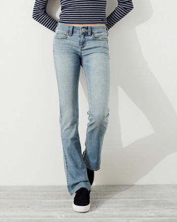 Stretch Low-Rise Boot Jeans