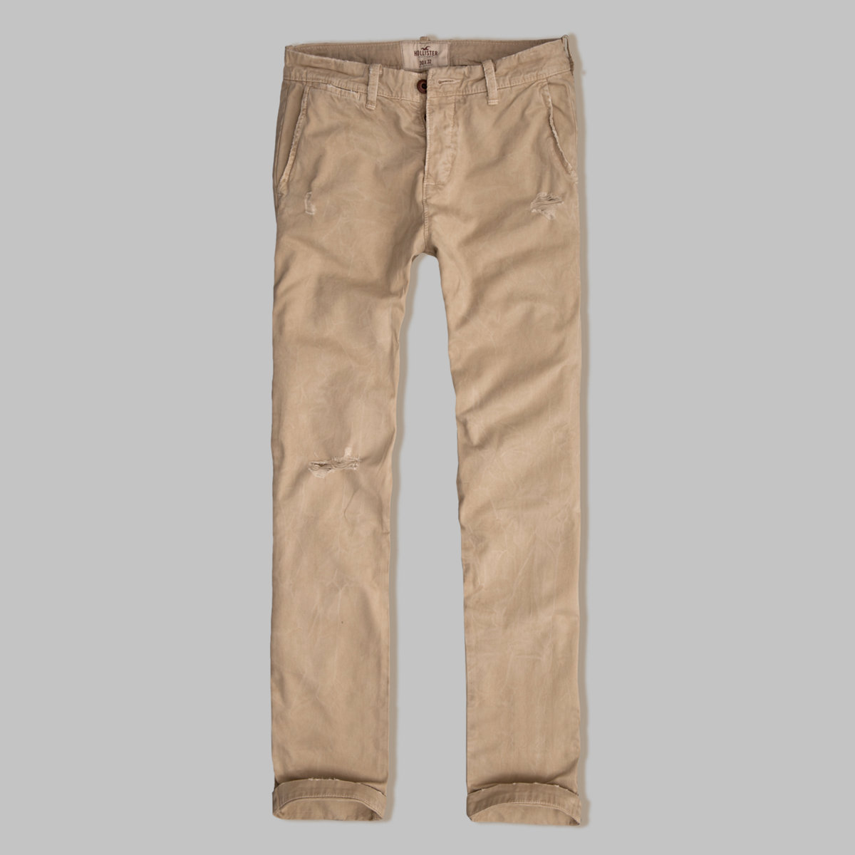 Hollister Slim Straight Button Fly Chinos